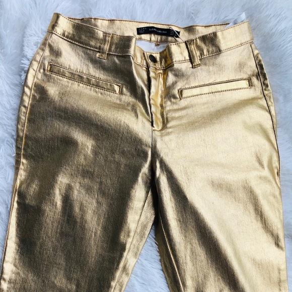 Zara gold pants